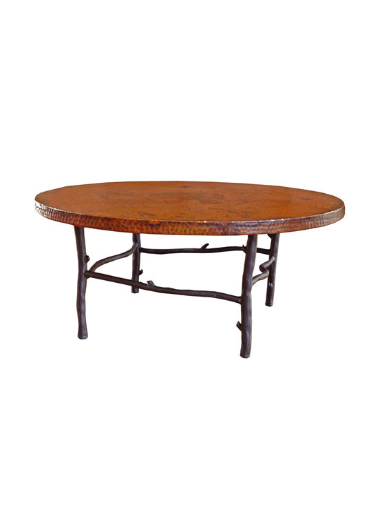 Hand forged iron south fork 42 round coffee table geotapseo Image collections